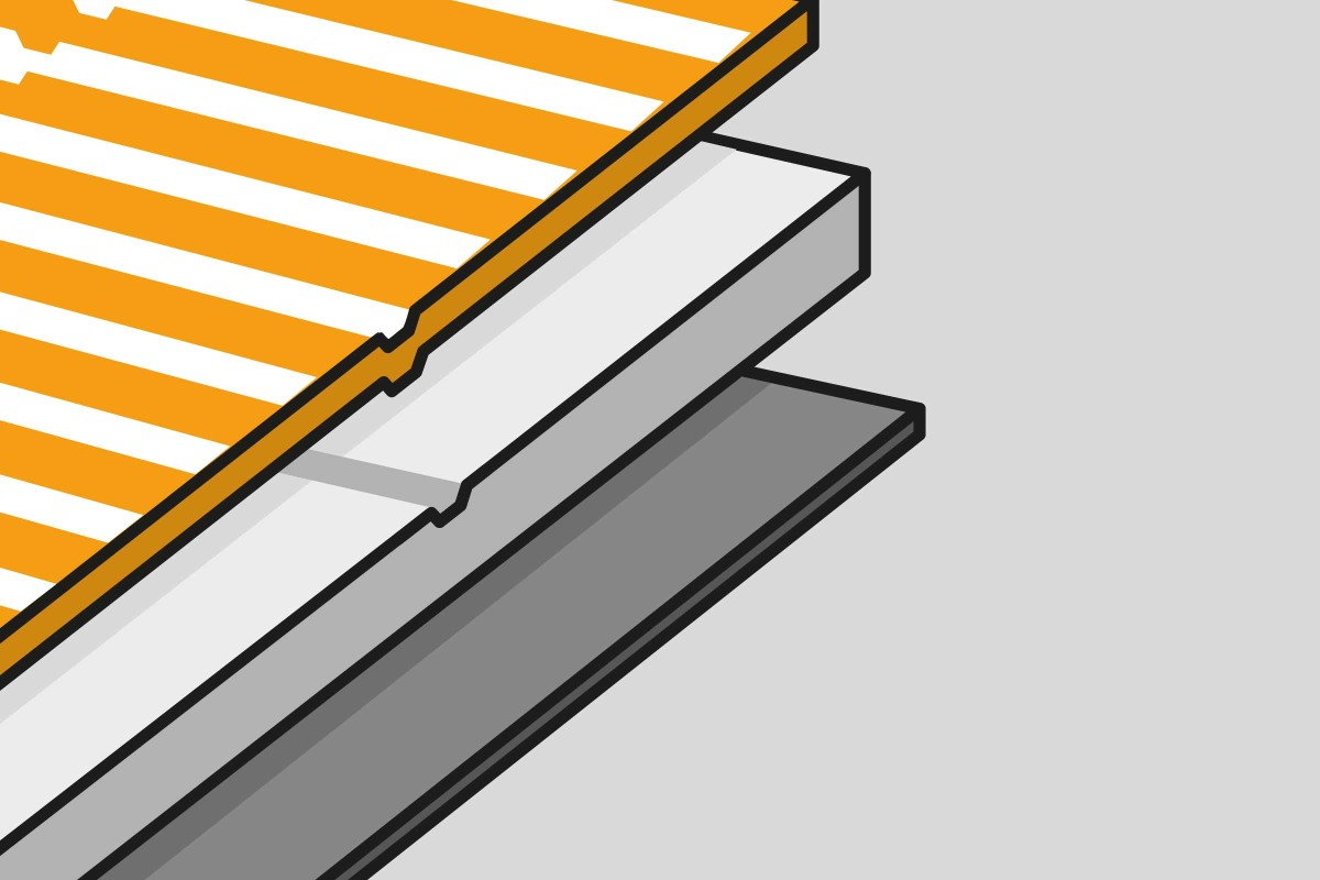 Materialaufbau PVC Auslegware mit Traeger