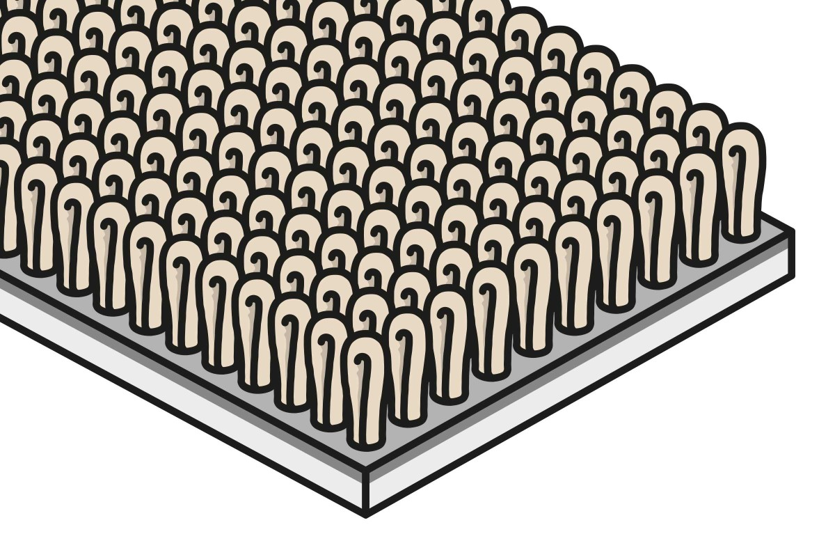 Materialaufbau Teppichboden Schlingenware
