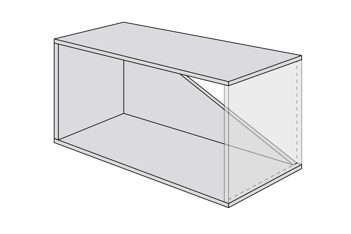 Dachschraege regal bauen bauskizze grosses modul