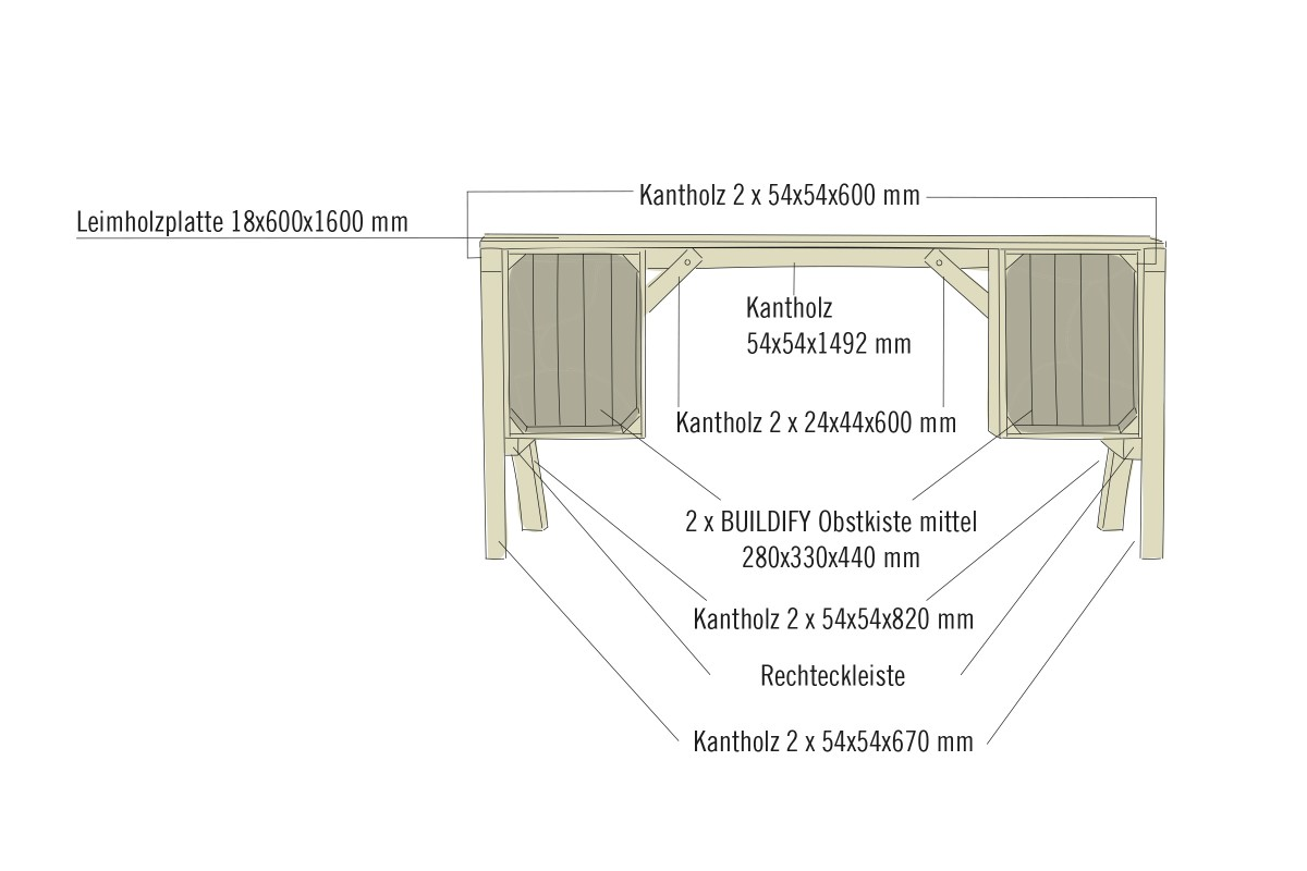 Schreibtisch Selber Bauen Hornbach 2021