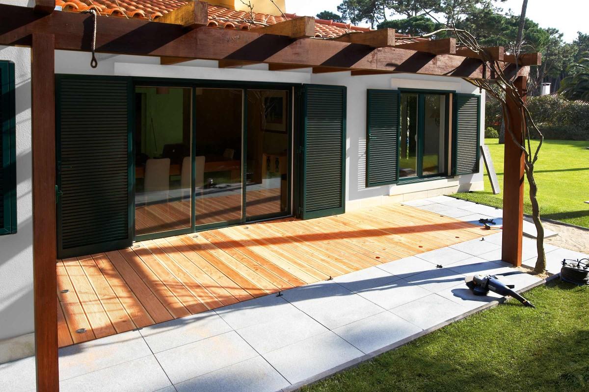 Inspiration Holz Stein Terrasse 3