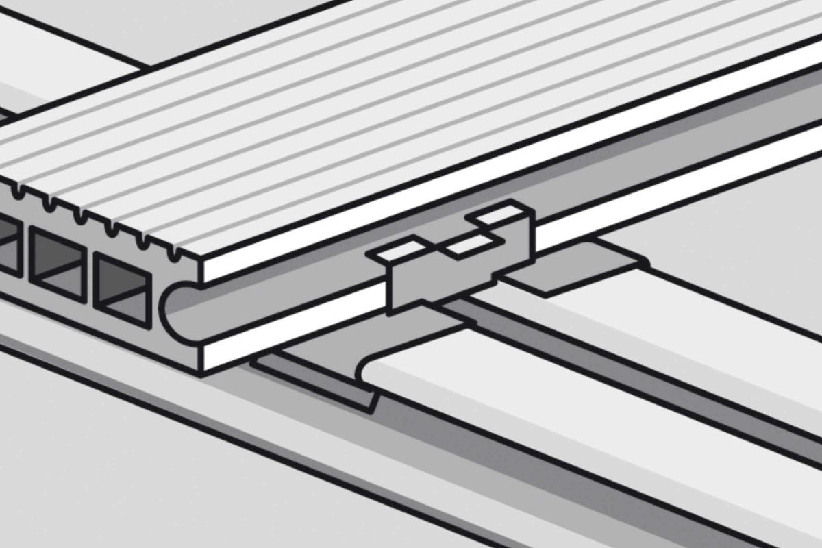 Unterkonstruktion von Holzterrassen Verlegetechnik Systembefestigung