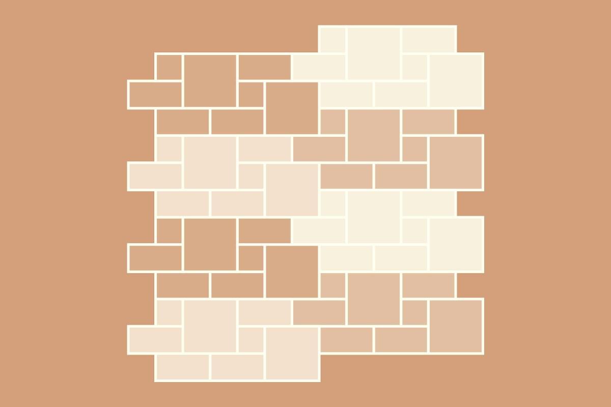 Terrassensteine Verlegemuster Roemischer Verband 3 Formate
