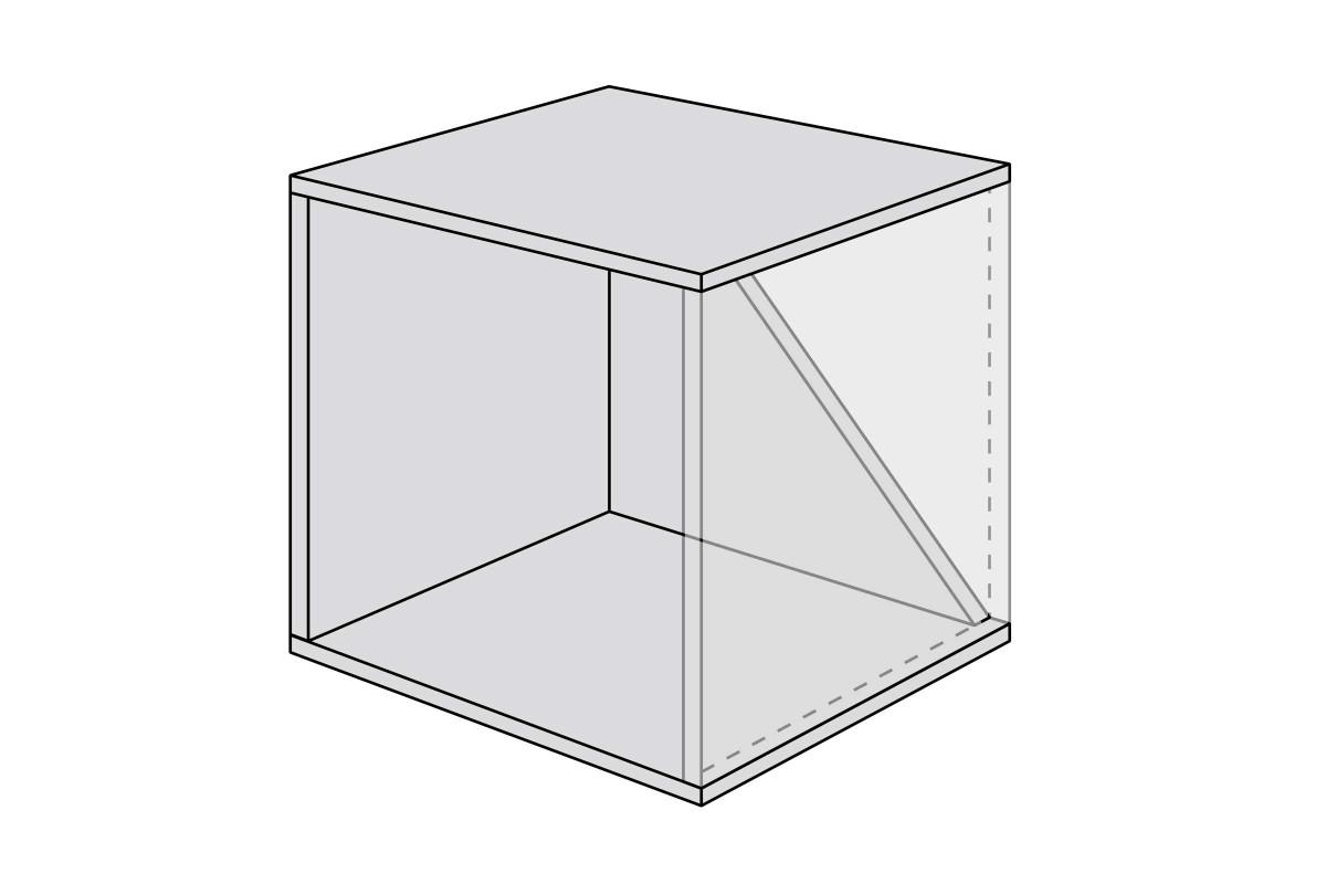 Dachschraege regal bauen bauskizze kleines modul