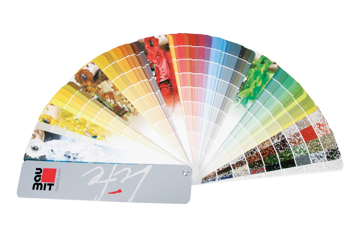 Farbtonfaecher Verleih BAUMIT LIFE Putze und Fassadenfarben