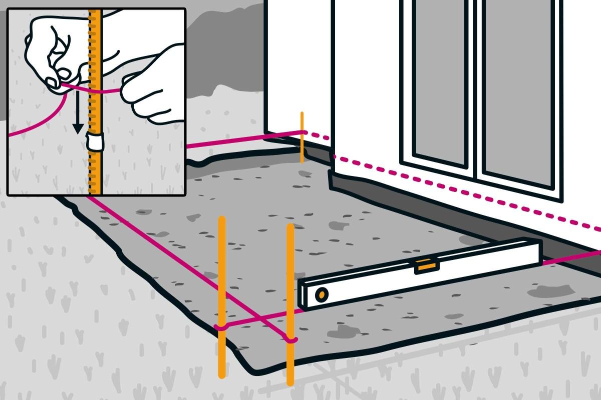 Feinsteinzeug Terrasse bauen   Anleitung von HORNBACH