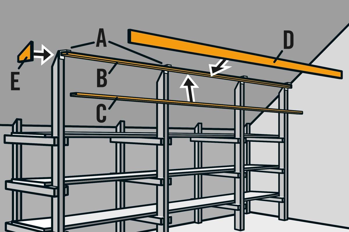 Dachschräge Regal selber bauen   Anleitung von HORNBACH