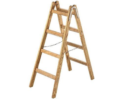 Sprossenstehleiter Holz Riedel, 2x4 Stufen