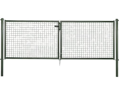 Wellengittertor 300 x 150 cm, grün