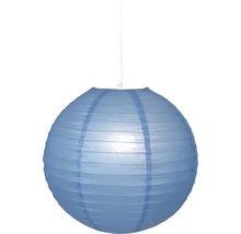 Reispapier Lampenschirm Ø 400 mm Japan Ballon blau ohne Fassung + Aufhängung