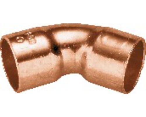 Bogen 45° 2 Muffen 28mm 10 Stück Kupfer