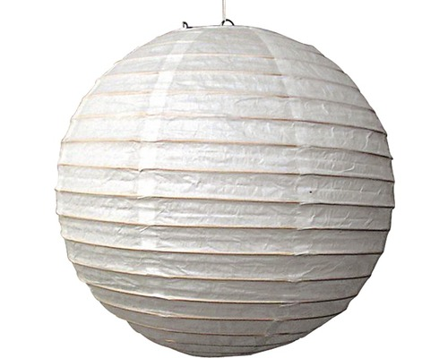 Reispapier Lampenschirm Ø 400 mm Japan Ballon weiß ohne Fassung + Aufhängung