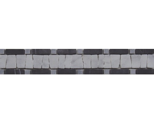 Natursteinbordüre schwarz 5x30 cm