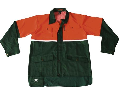 Forstjacke ohne Schnittschutz grün/orange Gr. 46/48
