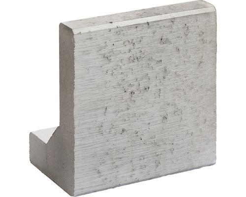 L-Stein Grau 40x25x40x8 cm