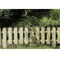 Vorgartenzaun zur Steckmontage 120 x 30/45 cm, grün