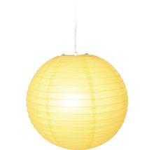 Reispapier Lampenschirm Ø 400 mm Japan Ballon gelb ohne Fassung + Aufhängung