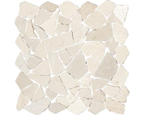 Polygonales Marmor-Natursteinmosaik Biancone