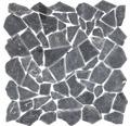 Polygonales Marmor-Natursteinmosaik Nero Marquinia