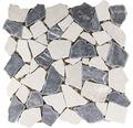 Polygonales Marmor-Natursteinmosaik Biancone Java