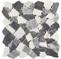 Bruchmosaik Marquina grey 30x30 cm