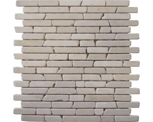 Marmor-Natursteinmosaik Biancone