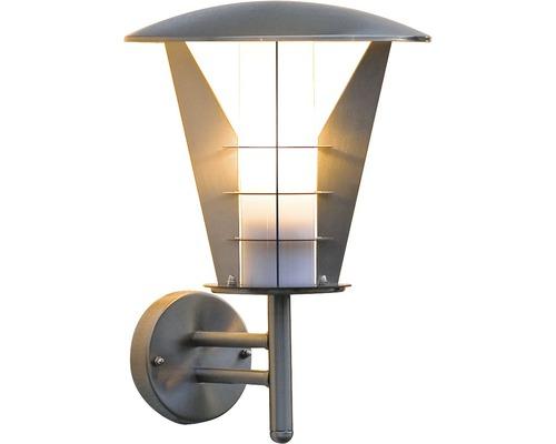 Außenwandleuchte Livorno 1-flammig edelstahl, 330 x 250 x 250 mm, Lampenkörper nach oben stehend