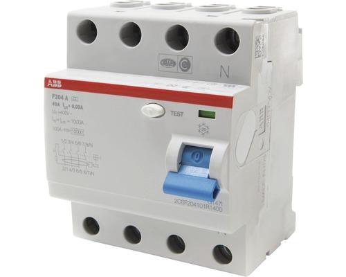 ABB F204A-40/0,03 40A 30mA Fehlerstrom Schutzschalter FI Schalter 4-polig