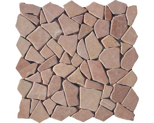 Polygonales Marmor-Natursteinmosaik Rosso Verona
