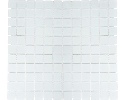 Glasmosaik CM 4045 weiß matt 30,2x32,7 cm