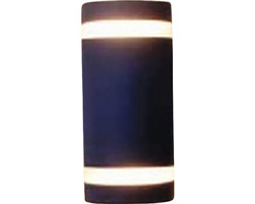 Außen-Halogenwandspot Focus 2-flammig anthrazit, 235 x 110 mm