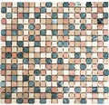 Natursteinmosaik MOS 15/RND 30,5x32,2 cm beige/braun/grün