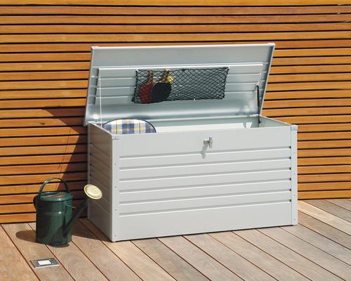 Auflagenbox biohort FreizeitBox 130, 134 x 62 x 71 cm, silbermetallic