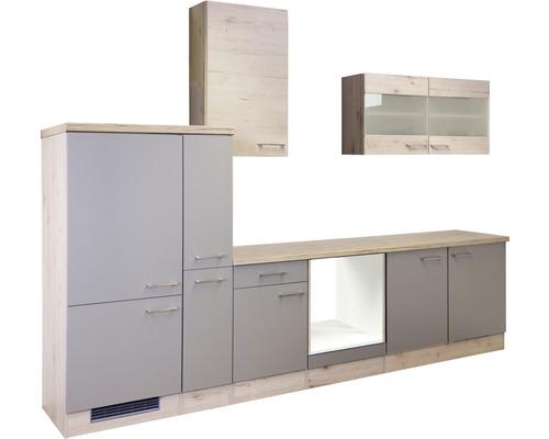 Küchenleerblock Riva quarzit cubanit-san remo eiche hell 300 cm