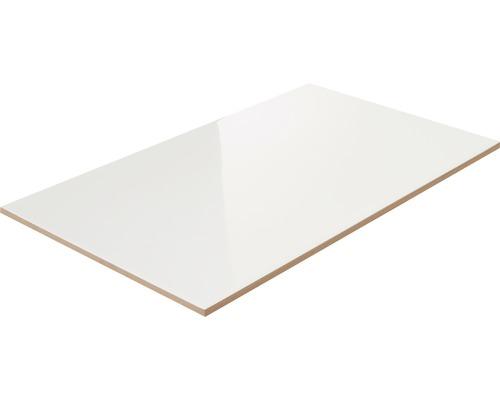 Steingut Wandfliese weiß glänzend 25 x 40 cm