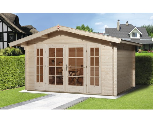 Gartenhaus weka Weekendhaus 137 mit Fußboden 380 x 380 cm natur