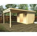 Gartenhaus weka Lounge-Haus 2 300 cm Lounge mit Fußboden 594 x 295 cm natur