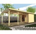 Gartenhaus weka Lounge-Haus 1 450 cm Lounge mit Fußboden 654 x 295 cm natur