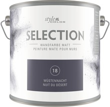 Premium Wandfarbe StyleColor SELECTION Farbton 18 Wüstennacht 2,5 l