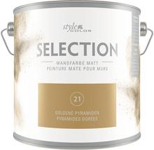 Premium Wandfarbe StyleColor SELECTION Farbton 21 Goldene Pyramiden 2,5 l