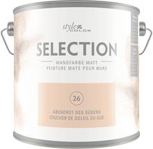 Premium Wandfarbe StyleColor SELECTION Farbton 26 Abendrot des Südens 2,5 l
