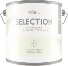 Premium Wandfarbe StyleColor SELECTION Farbton 01 Blüte der Athene 2,5 l