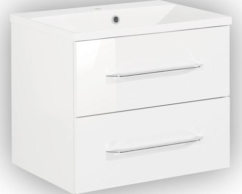 Badmöbel-Set FACKELMANN B.clever 60 cm mit Waschtisch weiß
