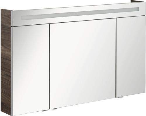 Spiegelschrank FACKELMANN B.clever LED 120x71 cm Ulme Madera IP 20