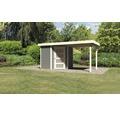 Gartenhaus Karibu Anvik 3 mit Schleppdach 433 x 217 cm terragrau