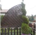 Balkon-Sichtschutzfächer Weide 100x100 cm