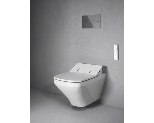 Dusch-WC Komplettanlage DURAVIT DuraStyle für Sensowash weiß wandhängend 631001002004300 mit Dusch-WC-Sitz