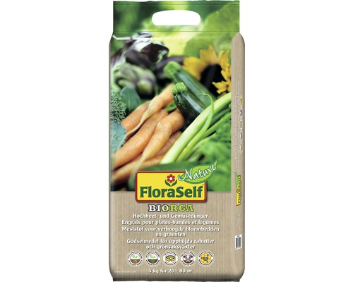 Hochbeetdünger und Gemüsedünger FloraSelf Nature BIORGA organischer Dünger 4 kg