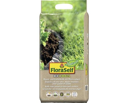 Rasen- und Gartenkalk FloraSelf Nature BIORGA 5 kg, mit Meeresalgen