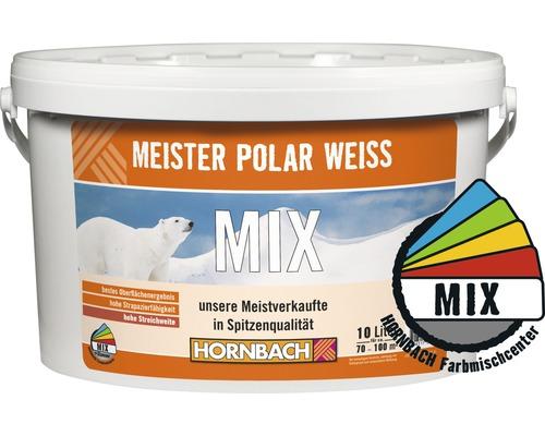 Wandfarbe Meister Polarweiß im Wunschfarbton 10 l